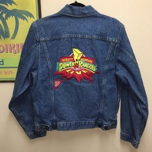 POWER RANGERS 1994 Collectors Denim Jacket Vintage